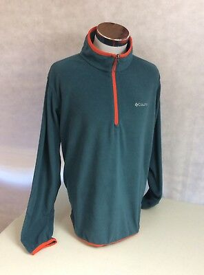 COLUMBIA Sportswear 1/2 Zip Lightweight Blue Fleece Jacket Men's Size XL