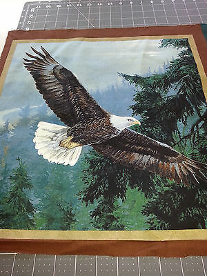 "Soaring Eagle Cushion Panel approx 16x16"" Quilting Cotton Fabric"