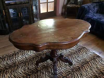 Vintage Antique Victorian Table with side drawers