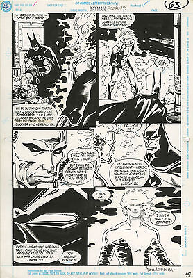 Original Comic Art  Batman Annual Issue 15 Page 63 Batman & Waverider