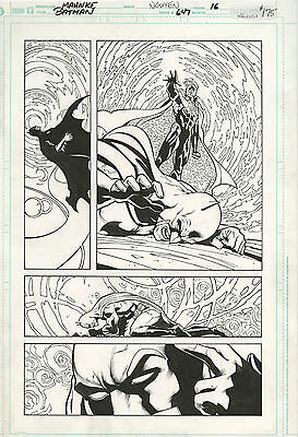 Original Comic Art  Batman Issue 647 Page 16 Batman vs Count Vertigo