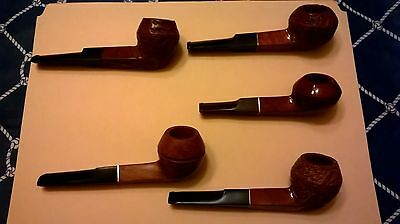 Estate lot of  Five  Vintage IMPORTED BRIAR Unsmoked Pipes