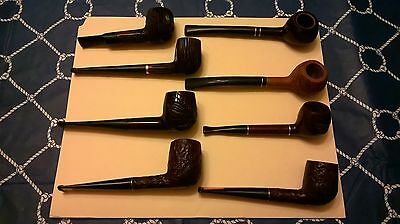 Lot of Eight Estate Vintage Imported Briar Pipes  Unsmoked