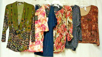 27 lot L XL top shirt blouse NEW NWT USED name brands open shoulder sheer career
