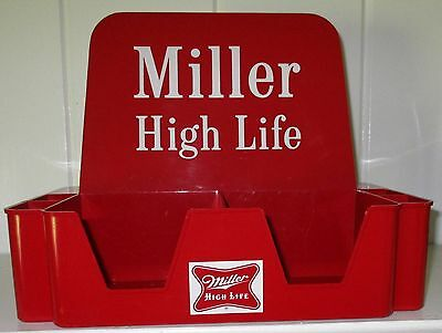 1954 Vintage MILLER High Life Bar Caddy Man Cave Swizzle Napkin Holder