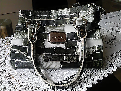 Authentic GUESS Los Angeles~Handbag Tote~Zebra Pattern
