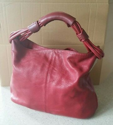 Oroton Red Leather Handbag. Good Preloved Condition.