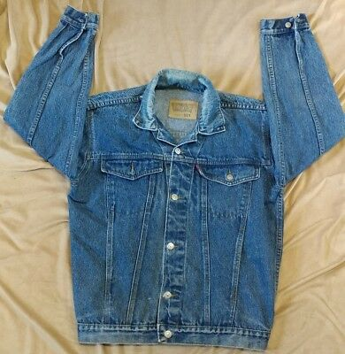 Vintage Levi's 501 Denim Jacket Button Front Leather Tag See Listing Single