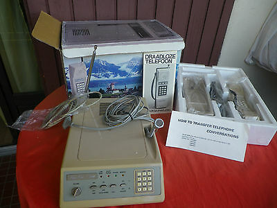 Telephone Set Super Call V3000 Japan  Vintage 1985 Handy Phone Set New In Box