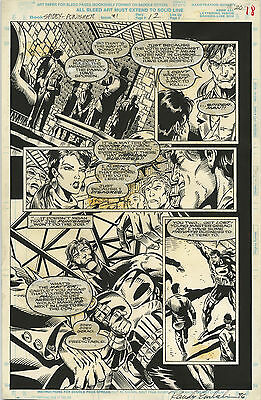 Original Comic Art Spider-Man Punisher Family PLot Issue 1 Page 18
