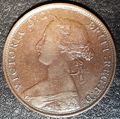 1864 S6 New Brunswick Large Cent Beautiful Victorian Coin Such amazing detail