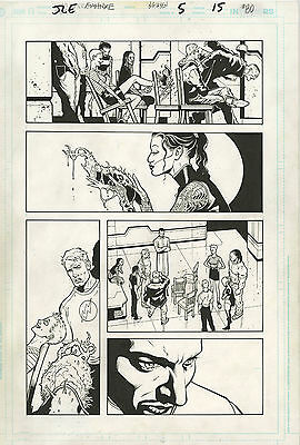 Original Comic Art Justice League Elite Issue 5 Page 15