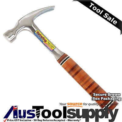 Estwing 20Oz Straight Claw Rip Hammer Solid Steel - Leather Handle  E20S
