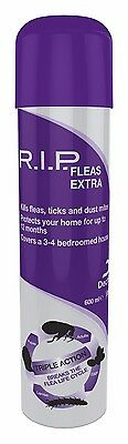 RIP FLEAS EXTRA Household Flea Spray For Dog & Cat Protection 600ml BEST PRICE!!