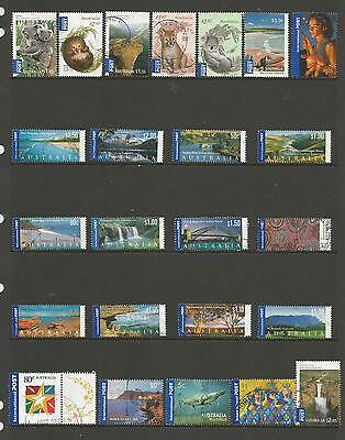 24 Australian International Post stamps used