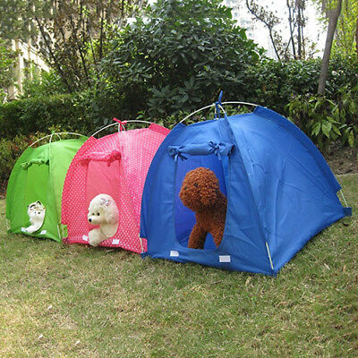Pet Tent Foldable Puppy Kitten Dog Cat  Pet Kennel House Indoor Outdoor Supply