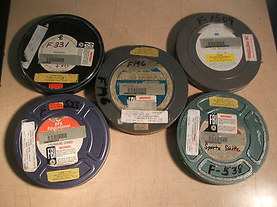 5 Vintage 16mm Educational School Films In Cans SEE TITLES FREE SHIPPING
