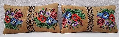 12'' X 20'' Rustic Kilim Throw Pillow Covers Set of Two Decorative Couch Pillows