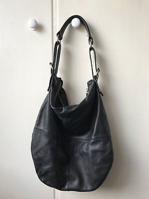 Trenery black leather Shoulder Bag