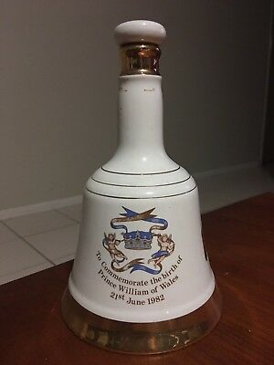 Wade Birth Of Prince William 1982 Commemorative Whisky Bell EMPTY
