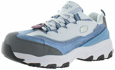 Skechers D'Lite Womens Slip Resistant Alloy Safety Toe Work Shoes Sneakers 76442