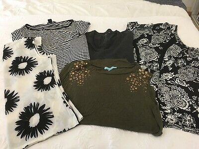 5 Ladies Tops, Size 12 To 14, As New , Must Go