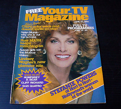 Your TV Magazine 1980 Cliff Richard Pin Up Suzi Quatro Lindsay Wagner MASH