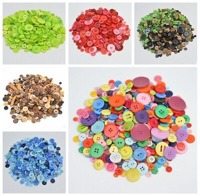 4 Holes Round Resin Buttons 600pcs Lot Mix Size DIY Scrapbooking Sewing Craft