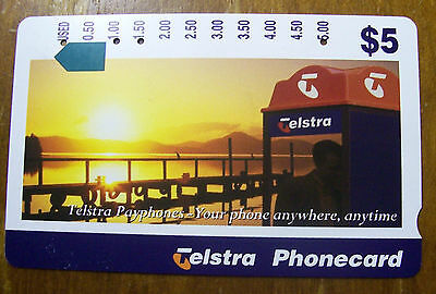 Phone Card. $5. Telstra Payphone