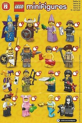 Lego Minifigure Series 12 Checklist