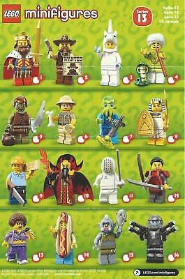 Lego Minifigure Series 13 Checklist