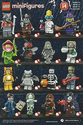 Lego Minifigure Series 14 Checklist