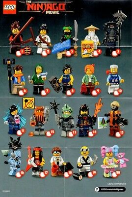 Lego Minifigure Ninjago Movie Series Checklist