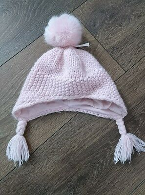 baby girl bobble hat 3-6 months