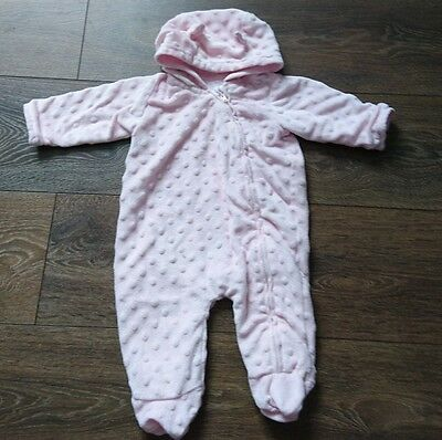 Baby girl snowsuit thin car coat 0-3 months