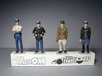 4  Figurines  1/43  Set  325  Gendarmerie  Police  Nationale  Vroom  Unpainted
