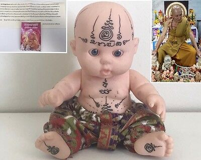 Rare Lp Nien Real Kuman Guman Thong Baby Ghost Spirit Thai Temple Magic Amulet