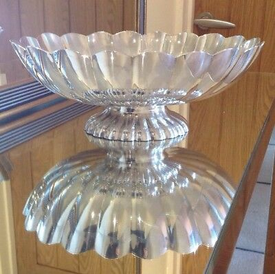 """Vintage Silver Plated Large Fruit Bowl By Reed & Barton 12.25"""" X 10.25"""""""