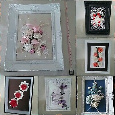 Mixed Media Floral or Shell Collages