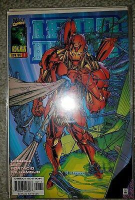 Iron Man #1 signed by whilce Portacio and comes with a C.O.A.
