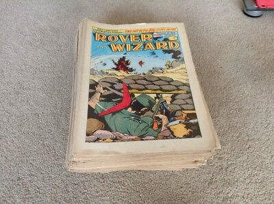Rover and Wizard Comics 1964 52 Issues.