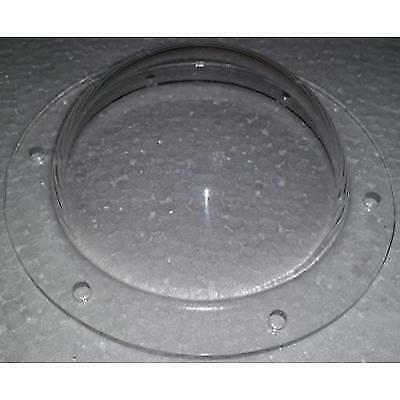 "Acrylic Dome / Plastic Hemisphere - Clear - 3"" Diameter, 1/2"" Flange with"