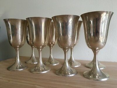 Set Of Eight 8 Sterling Manchester Silver Co. Goblets #954 Unused