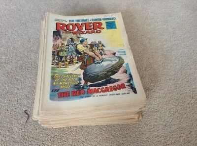 Rover and Wizard Comics 1966 53 Issues