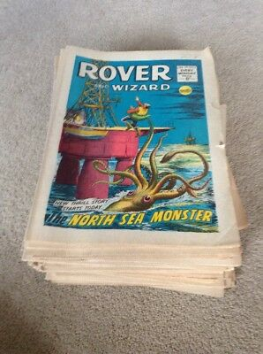 Rover and Wizard Comics 1967 52 Issues