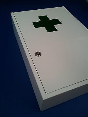 First Aid Medical Cabinet Kit Medicine Box Steel Lock And Key Large