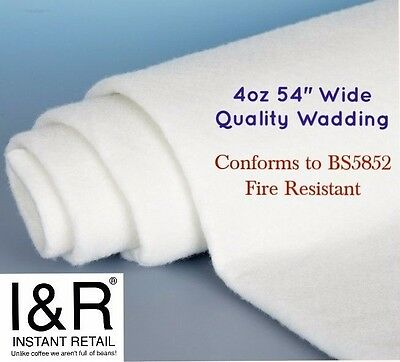 """4oz 54/"""" WIDE POLYESTER WADDING 10MTR UPHOLSTERY QUILTING BEST QUALITY /& PRICE"""