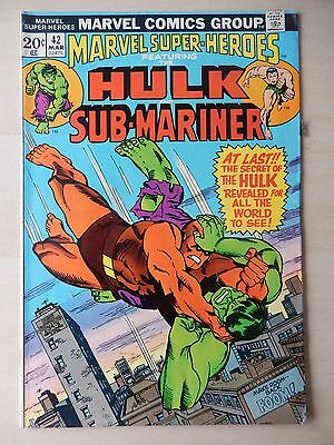 Marvel Comics - Marvel Super-Heroes Comic Book - No. 42 - March 1974