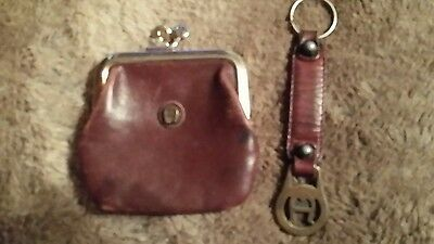 Vintage Etienne Aigner Coin Purse and Key Chain