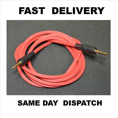 1.5m 3.5mm STEREO Jack Plug to Jack Aux NYLON Cable Audio Lead PC Car MP3 GOLD